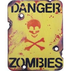 """""""Danger Zombies"""" Wooden Sign"""