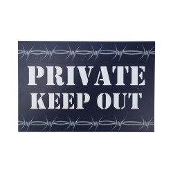 """Private Keep Out"" Wooden Sign"