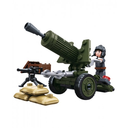 Sluban Military Bricks B0678A WWII Anti Aircraft Gun