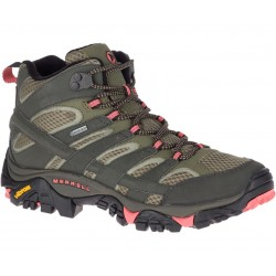 Merrell Women's Moab Mid Gore-tex Boots Beluga/Pink