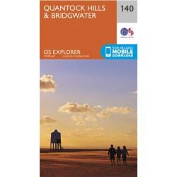 OS Explorer Map 140 Quantock Hills & Bridgwater