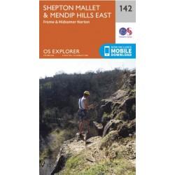 OS Explorer Map 142 Shepton Mallet & Mendip Hills East
