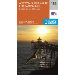 OS Explorer Map 153 Weston-super-Mare & Bleadon