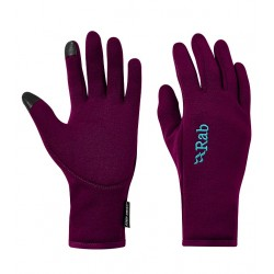 Rab Women's Powerstretch Contact Gloves Berry
