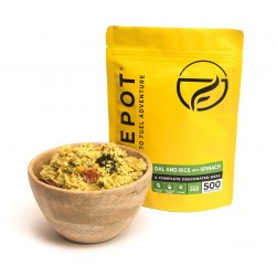 Firepot Meal Dal Rice With Spinach